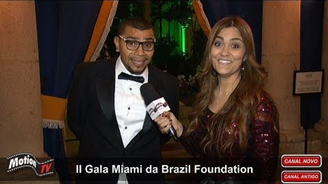 Naldo em Miami - Promete disco em espanhol e + parcerias internacionais - II Gala Brazil Foundation