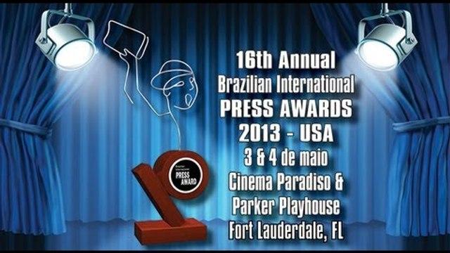 Brazilian Press Awards USA 2013 na íntegra - Homenageados: Carlinhos Brown e Claudia Abreu