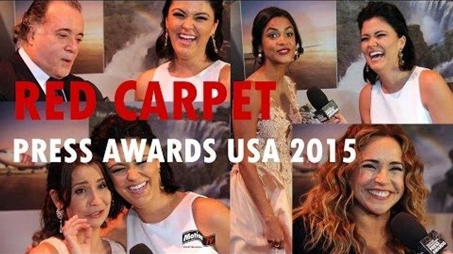 RED CARPET: Tony Ramos, Daniela Mercury, Lucy Alves, Mila Burns | PRESS AWARDS 2015 entrevistas