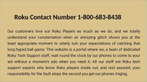Roku Customer Support Number +1-(800)-683-8438,Toll Free Number
