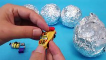 Surprise Eggs Glitter Disney Cars, Inside Out, Thomas, Minions Toys 서프라이즈 에그 뽀로로 타요 폴리 장난감
