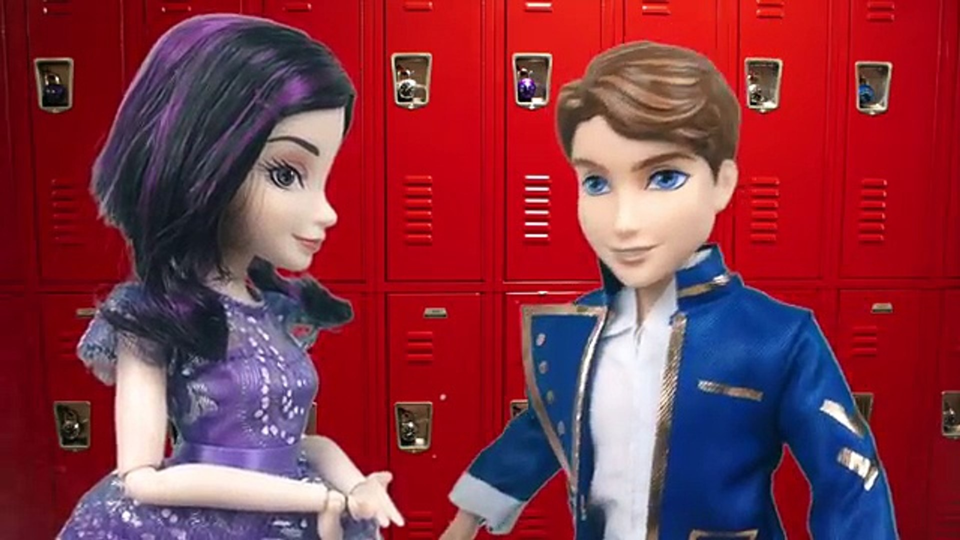 Куклы Мультик Видео с куклами Мэл Малефисента с Бэн Игрушки для девочек