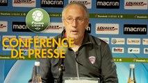 Conférence de presse AJ Auxerre - Clermont Foot (1-2) : Pablo  CORREA (AJA) - Pascal GASTIEN (CF63) - 2017/2018