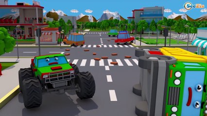 The Excavator Fixing The Road - NEW Cartoon For Kids 3D Cars & Trucks Stories