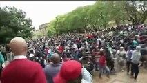 Sudáfrica: varios estudiantes y policías heridos en las protestas universitarias
