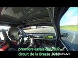 premiers essais clio CUP circuit de la Bresse 2018