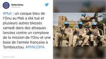 """Mali : une attaque """"sans précédent"""" contre les Casques bleus et les forces françaises à Tombouctou."""