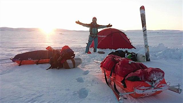 Traversée du Hardangervidda en pulka-trip snowkite 2018