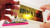 Willy Wonka Golden Ticket and Wonka Bar Replicas