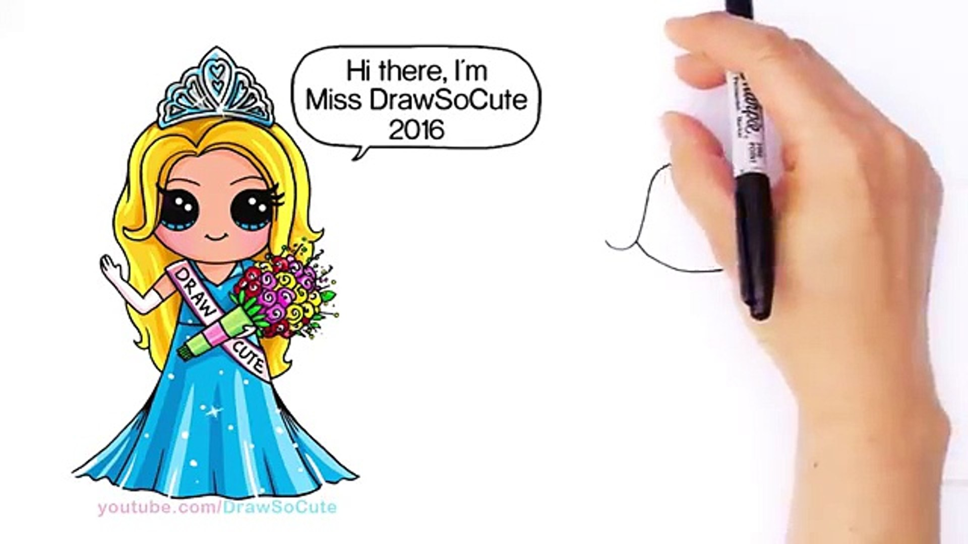 How To Draw A Pretty Girl With Crown And Beautiful Dress Cute Step