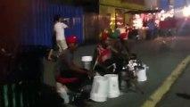 Musiciens de rue à la percussion