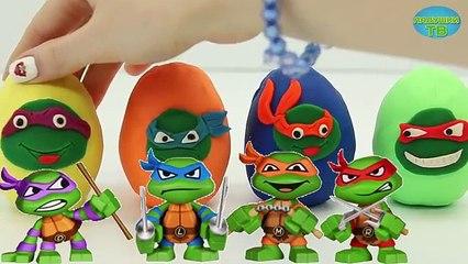 Киндер Сюрприз Игрушки Открываем плей до яйца Черепашки Ниндзя