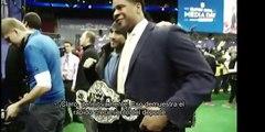 UFC 169: Ricardo Lamas en el día con los medios del Super Bowl