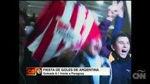 La fiesta por los goles argentinos en la Copa América