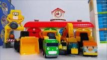 Toys for Children 뽀로로 라바 와 함께 하는 CAT 중장비 자동차 장난감 놀이 Heavy duty cars 콩순이 뽀로로 폴리 타요 봉봉 캐리 와 장난감 친구들