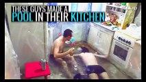Mutfağı boydan boya naylon kaplayıp havuz yaptılar