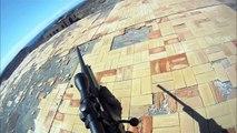 Un joueur Airsoft chute d'un toit par manque d'attention