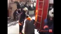 Ataşehir'de alev alev yanan bina vatandaşları sokağa döktü!