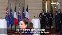 """Syrie: France et Etats-Unis ont la """"même position"""", dit Macron"""