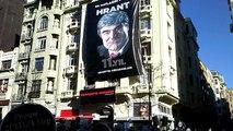 Hrant Dink, ölümünün 11'inci yılında katledildiği yerde anılıyor