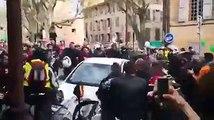 Une confrontation entre des manifestants et un automobiliste qui a percuté leur cortège !