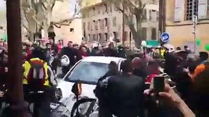 Grosse embrouille entre un automobiliste et des motards à Aix-en-Provence