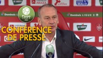 Conférence de presse Stade Brestois 29 - FC Lorient (3-0) : Jean-Marc FURLAN (BREST) - Mickaël LANDREAU (FCL) - 2017/2018