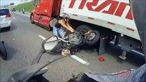 Latest News:AMAZING Motorcycle ACCIDENT Bike VS Truck Lane Splitting CRASH Biker HITS Semi 18 Wheeler FAIL 2016