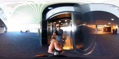 360 Camera in an AIRPLANE BATHROOM