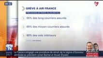 Grève à Air France: 55% des longs-courriers assurés ce mardi et 80% des vols intérieurs