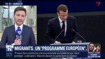 Emmanuel Macron propose un programme européen pour soutenir financièrement les régions qui accueillent des réfugiés.