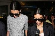 Kim Kardashian West and Kendall Jenner visit Khloe Kardashian