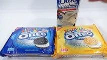 Oreo Birthday Cake Chocolate & Vanilla Cookie Sandwiches With Silk Coconut Milk!