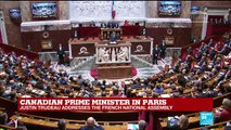 REPLAY - Canadian Prime Minister Justin Trudeau addresses the French National Assembly