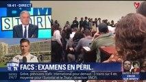 """Florian Mazet, responsable UNEF Nanterre: """"Les examens ne sont pas annulés, ils sont reportés"""""""