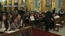 Emotivo encuentro del Papa con refugiados sirios e iraquíes en Turquía