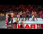 10 men tag team match braun strawman,finn balor,boby lashley,boby roode,Seth Rollins vs Miz trash,sami zayn, and kevin owens Monday Night Raw 16-04-18 Super Star Hand Shakeup