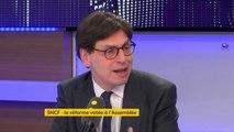 """Grève à la SNCF : """"Le mouvement social est en difficulté. On n'est pas dans le contexte de 1995, où l'opinion avait fait grève par procuration"""", explique Frédéric Dabi, politologue, directeur général adjoint de l'IFOP #TEP"""