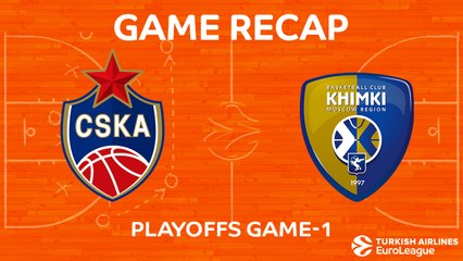 EuroLeague 2017-18 Highlights Playoffs Game 1 video: CSKA 98-95 Khimki