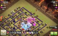 Clash of Clans TH10 vs TH10 Clan War 3 Star Attack Strategy #2 Golem, Wizard _ Valkyrie (GoWiVa)