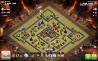 Clash of Clans TH10 vs TH10 Clan War 3 Star Attack Strategy Super Queen, Lavaloon