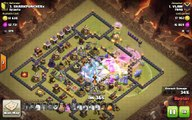 Clash of Clans TH11 vs TH10 Clan War 3 Star Attack Strategy Bowlers, Healer (BoHe)
