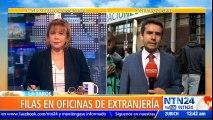 Caos y largas filas en oficinas de extranjería en Chile tras primeras medidas de reforma migratoria