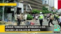 ISIS cumple sus amenazas y realizan varios actos terroristas en la capital de Indonesia