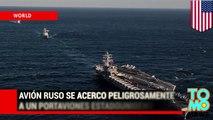 Portaviones estadounidense envía aviones de combate para interceptar un avión ruso