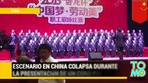 Grupo de 80 personas cae de un escenario en China mientras practicaban para concurso de canto