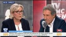 """Marion Maréchal-Le Pen """"ne souhaite pas du tout"""" être la tête de liste du FN aux européennes (Marine Le Pen)"""