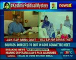 Kashmir political mystery J&K BJP ministers quit; will BJP-PDP survive this