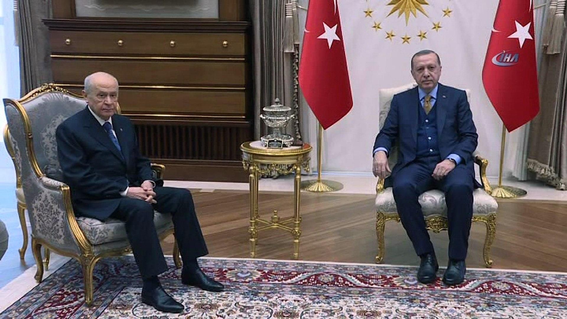 Cumhurbaşkanı Recep Tayyip Erdoğan 13.30'da MHP Genel Başkanı Devlet Bahçeli ile görüşecek