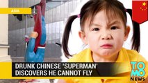 Hombre borracho dice que es Superman y niña de 10 años le hace saltar por un balcón para probarlo